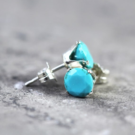 Turquoise Stud Earrings -Sleeping Beauty Turquoise Studs