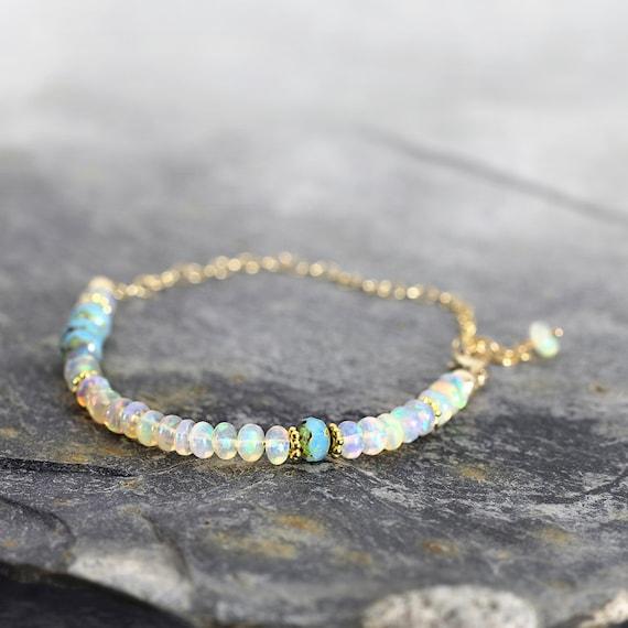 White Opal Bracelet - Fine jewelry Gift For Her