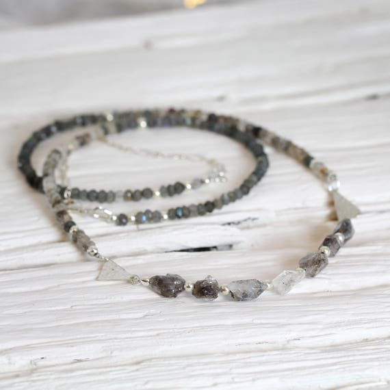 Quartz Crystal Necklace - Modern Quartz Necklace