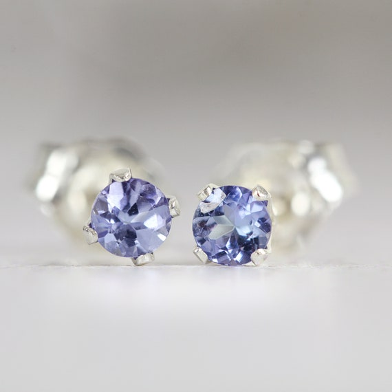 Tanzanite Stud Earrings - Genuine Tanzanite Earrings