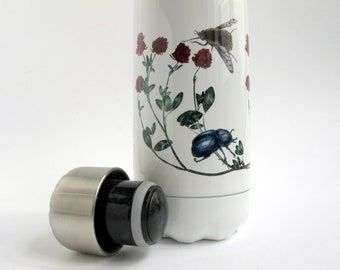 500ml Water Bottle Clover with Bee-Fly & Dung Beetle