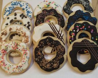 Donut Cookies -  Chanuka - Kosher- 1 Dozen
