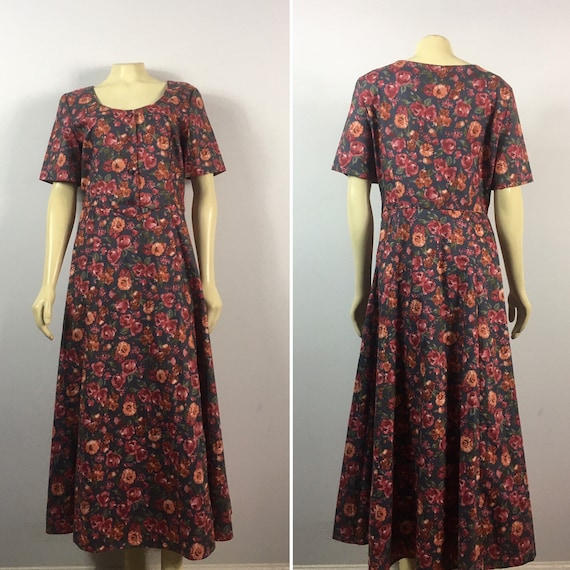 90s Laura Ashley Dress| 90s Laura Ashley Floral E… - image 6