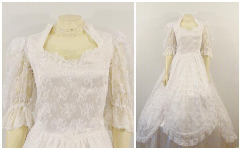 28436458b6b Vintage Wedding Dress 80s Gunne Sax By Jessica McClintock