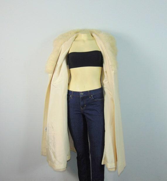 50s Princess Coat  50s SEITNER'S Ivory Belted Pri… - image 6