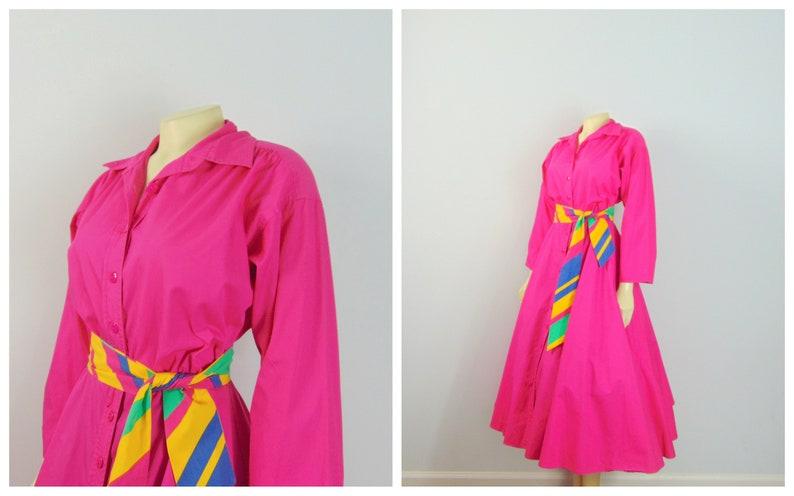 07020ae5ae7 Vintage Rockabilly Style Shirtwaist Dress Bahari Group Hot