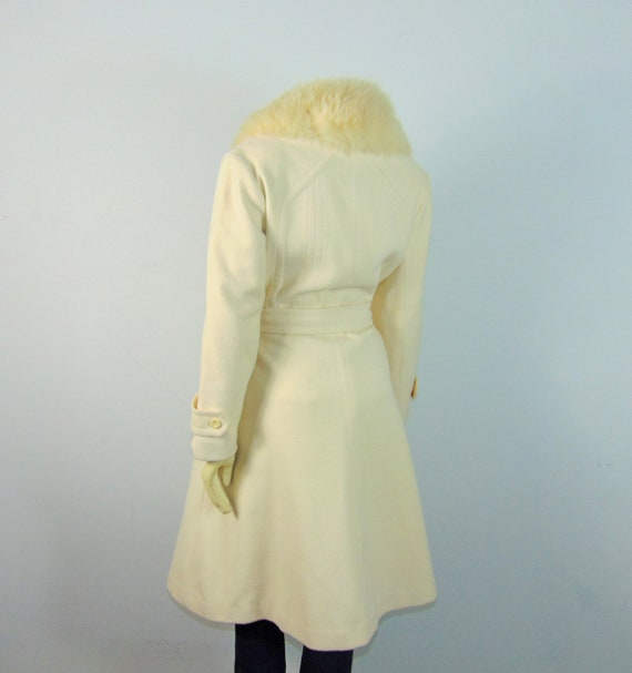 50s Princess Coat  50s SEITNER'S Ivory Belted Pri… - image 7