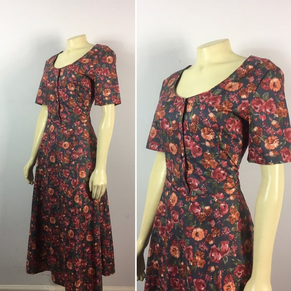 90s Laura Ashley Dress| 90s Laura Ashley Floral E… - image 3