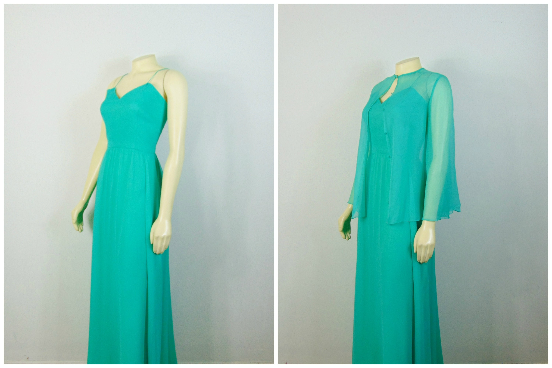 Vintage Dress 50s 60s Mad Men Mardi Gras Formal Dress Mint
