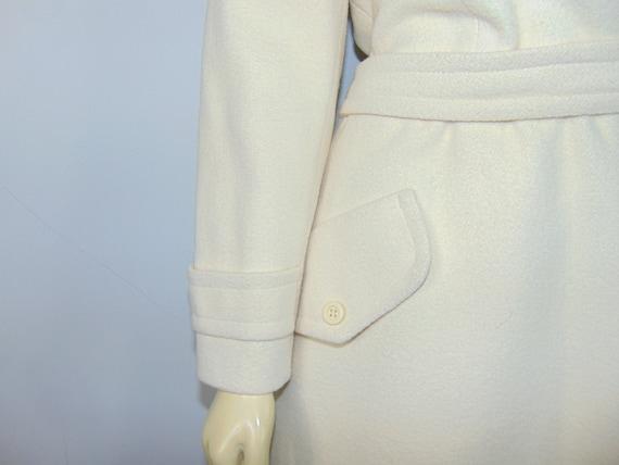 50s Princess Coat  50s SEITNER'S Ivory Belted Pri… - image 9