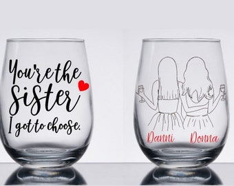 One Glass - Best Friends Long Distance Friendship Large 17oz I Fucking Miss You Bitch Stemless Wine Glass