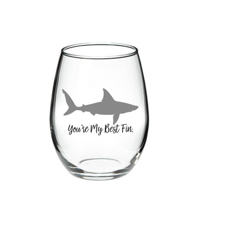 Requin Requin Verre A Vin Meilleur Ami Verre De Vin Vous Etes Mon Meilleur Fin Requin Pun 17 Oz Sans Verre De Vin