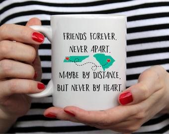 Best Friend Mug - Long Distance Friendship Gift - Friendship Long Distance - Friendship Distance - 11 or 15 oz White Mug