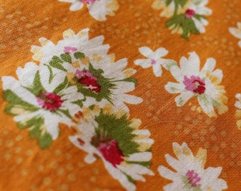 Apron Made to Order Your Size-Sommerhus Style Only-Orange Background White Flowers cotton