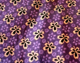 Apron Made to Order Your Size Any Style Three Styles This Fabric- Lavender Background Gold Black Flowers cotton