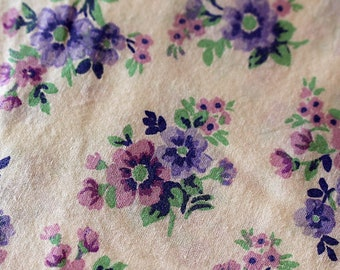 Apron Made to Order Your Size Any Style Three Styles This Fabric- White Background Light Lavender Flowers cotton