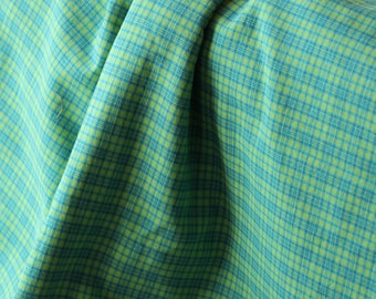 Apron Made to Order Your Size Any Style Three Styles This Fabric- Aqua Yellow Green Plaid woven cotton
