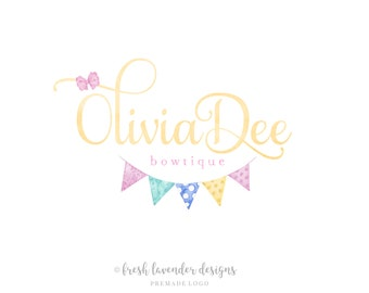 Bow logo design | Etsy