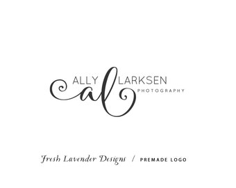 Custom Logo Design Premade Logo Design and Watermark for Photographers and Small Businesses Hand Written Monogram Initials Classic