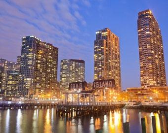 Long Island City at Dusk Cityscape- New York City Photography