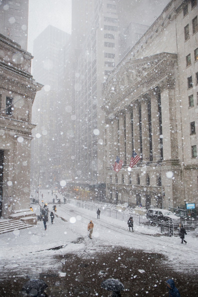 New York Stock Exchange in the Snow  New York in the Winter  image 0