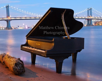 East River Piano - New York City Photography