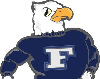 Fairless Falcon Wall Decal, Freddie Falcon Decal, Fairless Falcon Decal, Sports Decal, Removable Wall Art, by Abby Smith