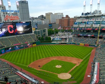 Progressive Field Photo, Baseball Photography, Indians Photo, Cleveland Indians Decor, Photo by Abby Smith, Sports Photography, Home Decor