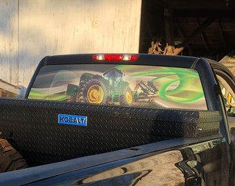Custom Truck Graphics, Vehicle Window Decal, Window Decal, Perforated Vinyl, Window Graphics, Back Glass Decal, See Through Decal,