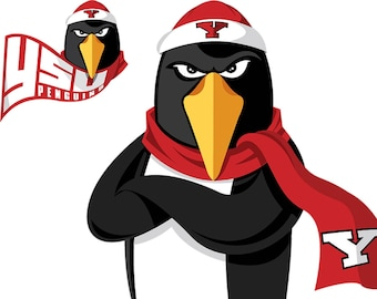 Youngstown Penguins Decal, YSU Penguins Decal, Penguins Wall Decal, Vinyl Wall Decal, Infinite Graphics, Removable Decals, College Decals