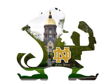 Notre Dame Wall Decal, Notre Dame Photo, Lucky Leprechaun, Home Decor, Sports Decals, Notre Dame Decor, Photo by Abby Smith, ND Fan Art