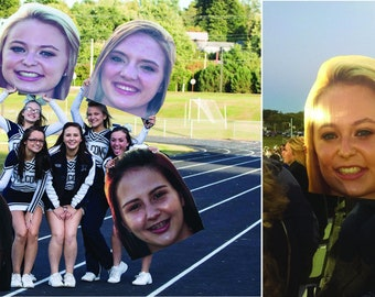 Fat Faces, Vinyl Head Signs, Game Day Gear, Large Heads, Big Heads, Photo Heads, Party Decor, Corrugated Sign, Fat Face Signs, Big Head Sign