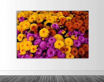 Floral Wall Mural, Autumn Mums, Photography, Floral Photography, Photo by Abby Smith, Home Decor, Vinyl Wall Decal, Infinite Graphics