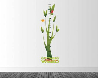 Growth Chart Wall Decal, Vinyl Wall Decal, Tree Themed Decal, Nursery Decor, New Baby Gift, Removable Wall Sticker, Infinite Graphics