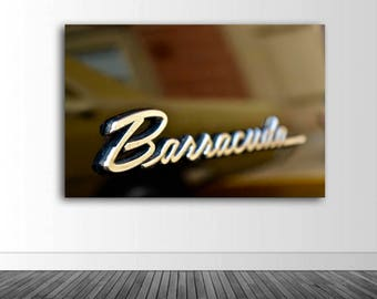 Barracuda Wall Decal, Vinyl Wall Decal, Classic Car Photo, Photography, Photo by Abby Smith, Infinite Graphics, Wall Graphics, Home Decor