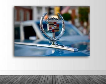 Cadillac Photo Decal, Hood Ornament, Automobile Art, Garage Decor, Man Cave Decor, Photo by Abby Smith, Infinite Graphics, Vinyl Wall Decal