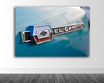 Chevy El Camino, El Camino Decal, El Camino Wall Decal, Vinyl Wall Decal, Photography, Photo by Abby Smith, Infinite Graphics, Wall Mural