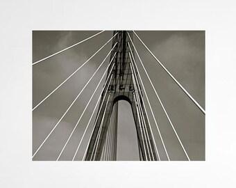 Bridge Architecture, Bridge Photography, Black and White Photography, Wall Art, Modern Photography, Home Decor, Photo by Abby Smith, Photo