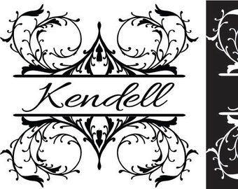 Monogram Decal, Silhouette Decal, Family Name Decal, Vinyl Wall Decal, Vinyl Graphics, Word Decal, Removable Decal, Infinite Graphics