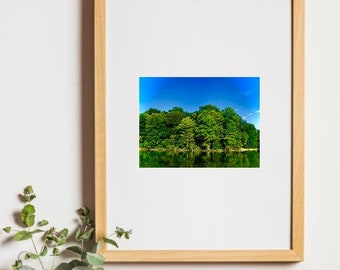 Lake Photography, Unframed Photography, Summer Lake Photo, Landscape Art, Home Decor, Photo by Abby Smith, Nature Photography, Wall Art