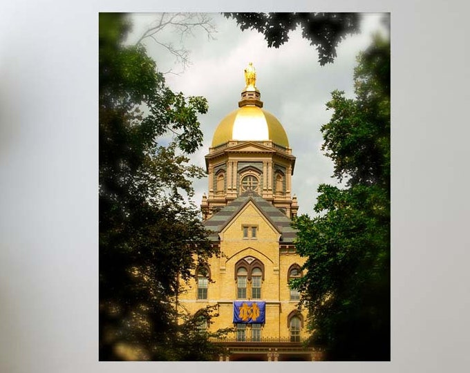 Featured listing image: Notre Dame Decal, University, Decal, Golden Dome Decal, Fighting Irish Decal, Home Decor, Notre Dame Decor, Vinyl Wall Decal, by Abby Smith