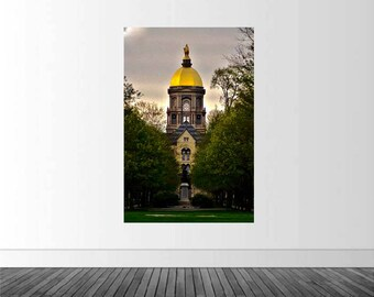 Notre Dame University, ND Wall Decal, Vinyl Wall Decal, Golden Dome, Fighting Irish, Infinite Graphics, Wall Graphics, Notre Dame