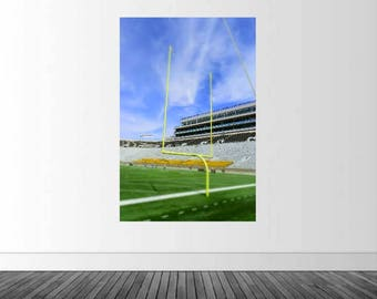Notre Dame Stadium, Notre Dame Football, Vinyl Wall Decal, Football Wall Decal, Football Goal Posts, Football Photography, Infinite Graphics