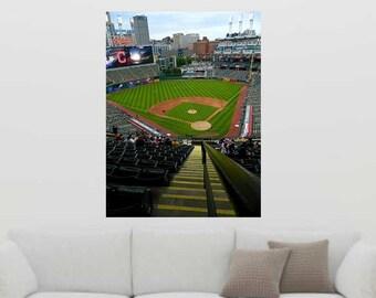 Progressive Field Decal, Baseball Mural, Indians Decal, Cleveland Indians Decor, Vinyl Wall Decal, Infinite Graphics, Vinyl Graphics