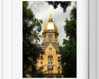 University of Notre Dame , The Golden Dome, Home Decor, ND Photography, Golden Dome at ND, Photography, Photo by Abby Smith, Home Decor, Art