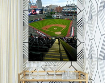 Progressive Field Decal, Baseball Mural, Indians Decal, Cleveland Indians Decor, Vinyl Wall Decal, Infinite Graphics, Vinyl Graphics