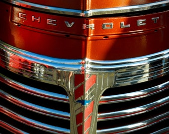 1940's Era Chevy Truck, Photography, Chevrolet Photography, Vintage Truck Photo, Classic Auto Photo, Automotive Photography, by Abby Smith