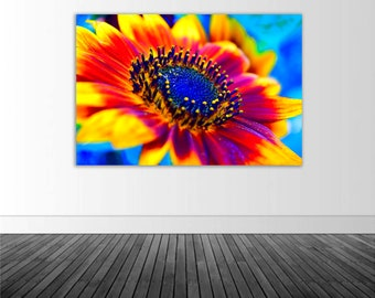 Vibrant Sunflower Decal, Vinyl Wall Decal, Wall Mural, Floral Decal, Photo by Abby Smith, Infinite Graphics, Floral Wall Graphic, Home Decor