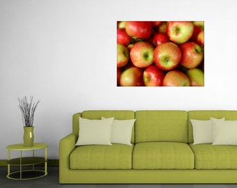 Apple Photography, Fruit Photography, Apples, Apple Themed Decor, Kitchen Wall Decor, Apple Harvest Photo, Photo by Abby Smith, Unframed Art