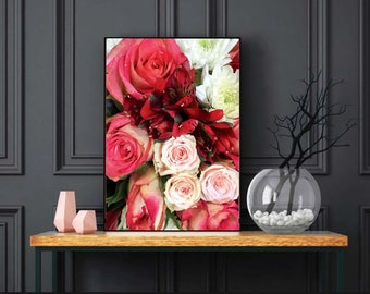 Floral Print, Red Roses Print, Pink Roses Print, Floral Photography, Photo by Abby Smith, Home Decor, Photo of Flowers, Flowers, Wall Art